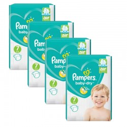 Maxi Pack 216 Couches Pampers Baby Dry taille 7 sur 123 Couches