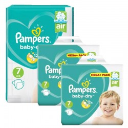 Mega Pack 232 Couches Pampers Baby Dry taille 7 sur 123 Couches