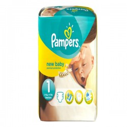 Pack 56 Couches Pampers de la gamme New Baby de taille 1 sur 123 Couches