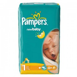 Pack 43 Couches Pampers New Baby Dry taille 1