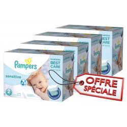 Pack jumeaux 600 Couches New Baby Sensitive