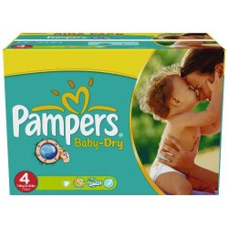 Mega pack 176 Couches Pampers Baby Dry taille 4 sur 123 Couches