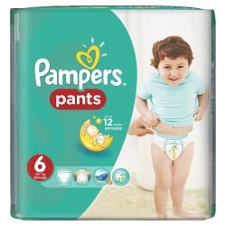 Pack 14 Couches Pampers Baby Dry Pants taille 6 sur 123 Couches