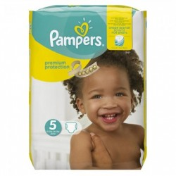 Pack 30 Couches Pampers New Baby Premium Protection taille 5 sur 123 Couches