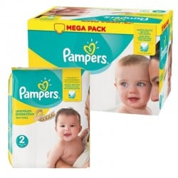 Mega pack 124 Couches Pampers New Baby Premium Protection taille 2