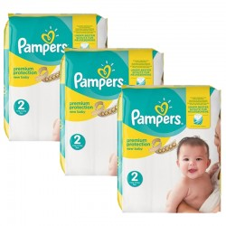 Maxi giga pack 341 Couches Pampers New Baby Premium Protection taille 2