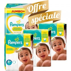 Giga pack 200 Couches Pampers New Baby Premium Protection taille 4+ sur 123 Couches