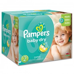 Maxi giga pack 322 Couches Pampers Baby Dry taille 2 sur 123 Couches