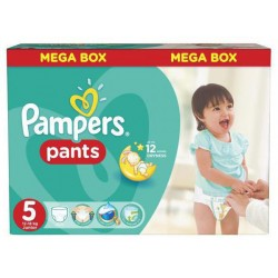 Pack 66 Couches Pampers Baby Dry Pants taille 5 sur 123 Couches