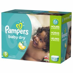 Giga pack 242 Couches Pampers Baby Dry taille 5 sur 123 Couches