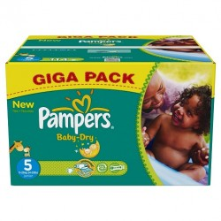 Giga pack 286 Couches Pampers Baby Dry taille 5