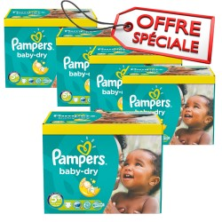 Mega pack 196 Couches Pampers Baby Dry taille 5+ sur 123 Couches