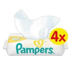 Pack 200 Lingettes Bébés Pampers de la gamme New Baby Sensitive - 4 Packs de 50 sur 123 Couches